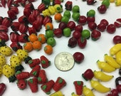 180+ glass fruits & vegetables beads apples bananas peppers cherries pineapples oranges