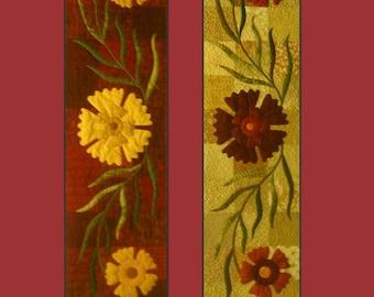 Wild Carnations Table Runner Pattern, PDF version