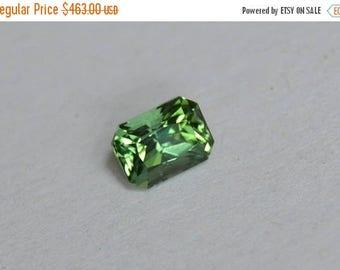 SALE Green Tourmaline Emerald Cut, 7x5mm tourmaline, Green Tourmaline, October Birthstone, October Gemstone, Afghanistan Tourmaline, Untreat