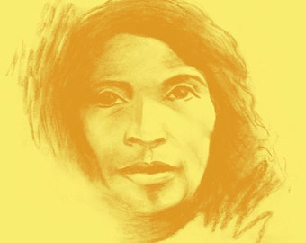 Marian Anderson - Women's T-Shirt - Gold on Yellow (Griot Apparel)