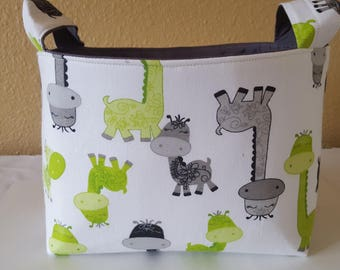 Fabric Organizer Basket Storage Container  Bin Caddy - Dinosaurs