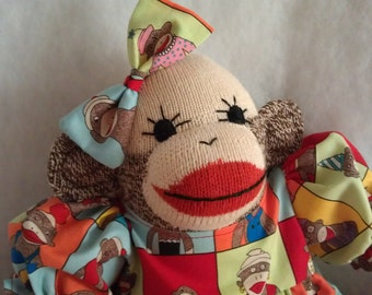 New VINTAGE Sock Monkey Doll