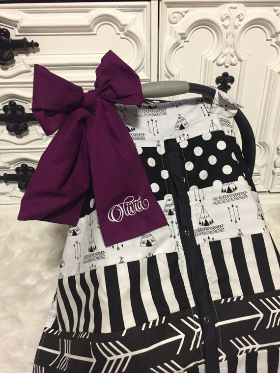 Car Seat Cover RTS OOAK comes with bow and name