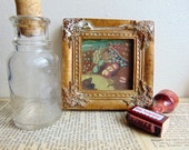 Vintage Hand Painted Framed Art Mini Masterpiece Abstract Still Life
