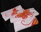 hanae mori pink butterfly bath towel set fluffy pink designer cotton towel hand towel washcloth