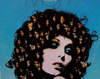 """MOTT The HOOPLE Vinyl Record LP Vintage 1974 """"The Hoople"""" British Glam Rock Ian Hunter Columbia Label All the Young Dudes Orig Press Exc/Vg+"""