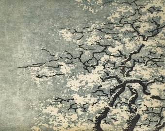 Woodblock Print - Tree No. 35 v.ll Limited Edition Moku Hanga Fine Art Hand Pulled Print