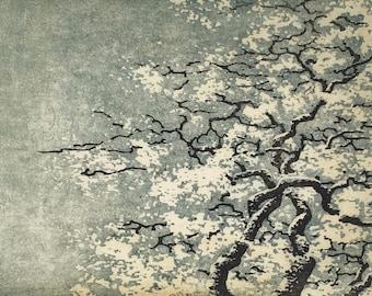 Woodblock Print - Tree No. 35 v.ll Limited Edition Moku Hanga Fine Art Hand Pulled Print