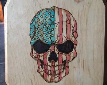 Custom American Flag Skull - MADE TO ORDER