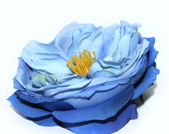 Blue English Rose - Artificial Flowers, Silk Roses