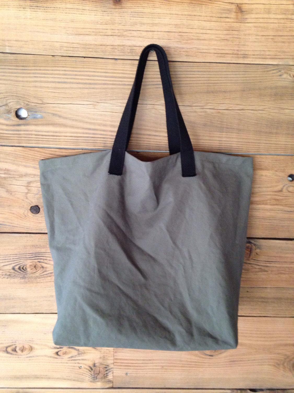 mens shopping tote cotton shopping bag gray canvas tote