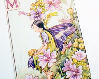 Mallow Fairy Tags - Set of 3 - Vintage Fairy - Lavender Pink - Flower Fairy - Fairy Fantasy - Gift Tags - Nature Tags - Spring Fairy