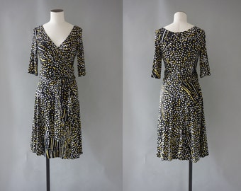 Issa dress   Silk jersey wrap dress   1990's by cubevintage   small