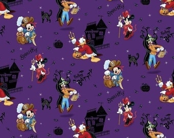 Halloween Disney Character Fabric -- HARD Find-- 40-70% off Patterns n Books SALE