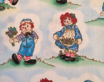 Raggedy Ann and Andy Playtime - Daisy Kingdom Quilt Fabric - Cotton Fabric By The Half Yard