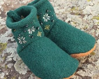 Wool Toddler Slippers: Medium 8-10
