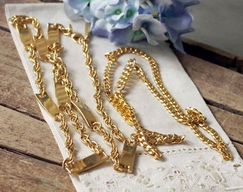 Vintage Gold Chain Necklace Lot of 2
