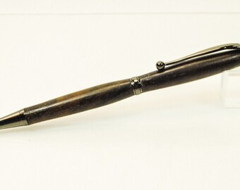 Slim Twist Ballpoint Pen, Ziracote Wood, By ASHWoodshops inexpensive gifts, Amazing Stocking Stuffers, Handmade