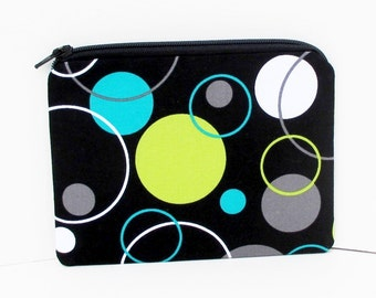 Hoopla Dots, Small Zippered Pouch or Coin Purse