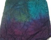 Hand dyed Mawata silk hankies 1 oz Jupiter - hand painted knitting spinning felting fiber - silk fiber - teal aqua purple silk hankie set
