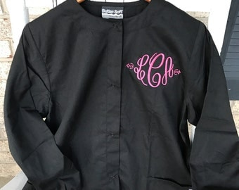 Scrubs Medical Warm up Jacket includes Monogram Personalization