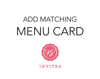 Add Matching Menu Card
