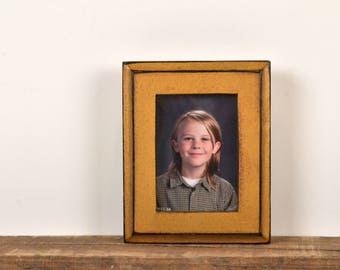 """Wallet Photo Frame 2.5 x 3.5"""" ACEO Card Size Picture Frame in 1x1 Outside Cove Style with Vintage Old Gold Finish - Can Be Any Color"""
