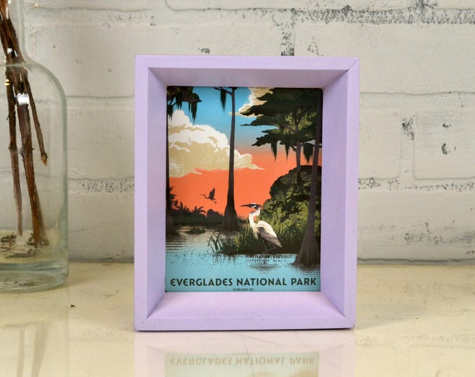 Everglades National Park Framed Postcard - Florida Travel Gift Frame - Solid Lilac Finish Park Slope Style - IN STOCK Same Day Shipping