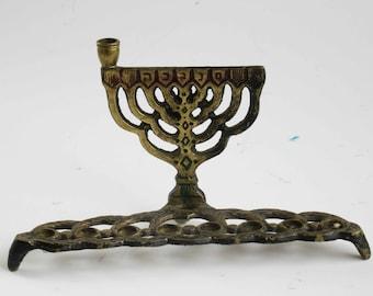 A beautiful vintage  hanukkah menorah,  judaica made in Israel