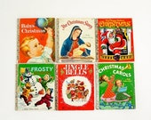 Vintage 1970s Little Golden Christmas Books Set of 6 / Classic Nostalgiac Illustrations