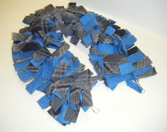 Sugar Glider, Fleece Rope, Fleece Vine, Fleece Chain, Grey Fleece, Blue Fleece,Fleece Toy,Sugar Glider Toy,Hanging Toy,Cage Toy