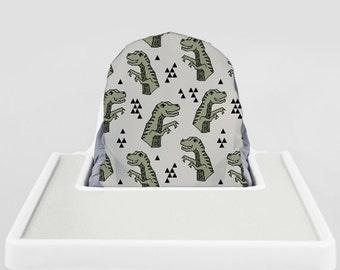 Artichoke Dinosaurs // IKEA Antilop Highchair Cover // High Chair Cover for the PYTTIG Cushion // Pillow Slipcover