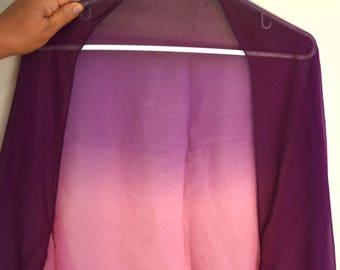 Plus size bolero, shrug, bridal wrap, purple and pink wedding shrug, cover up, sheer bolero, bridal shawl, prom cape, sweet sixteen jacket