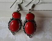 Vintage Red Earrings