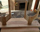 Custom for Mindy Horizontal Hat Rack for 2 Hats Natural Hickory