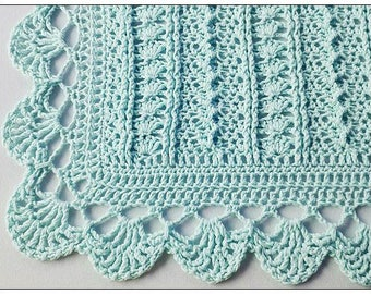 Instant DOWNLOAD Crochet Pattern - Spring Delight Afghan/Blanket for Baby PDF