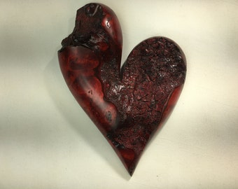 Heart Myrtle wood heart Anniversary gift Love you more present