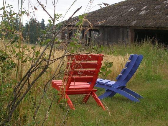 The Perfect Outdoor Chair!   Cedar Chairs - 12 colors - outdoor furniture - Storable! - patio, garden, beach, cabin chairs by Laughing Creek
