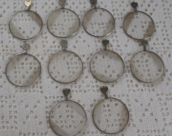 Vintage Optical Lenses Frosted Glass 10 Pieces