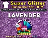 LAVENDER Super Glitter  HTV Heat transfer thermal press vinyl, T- Shirt film Great for Cheer Bows crafts or sign cutter Pick your size