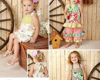 Baby Girls' Easy Sundress Pattern, Toddlers' Easy Sundress Pattern, Baby Girls' Romper Pattern, Sz 6 mo to 4, Simplicity Sewing Pattern 1472