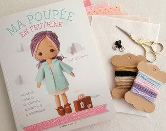 Limited Stock - My Felt Doll Craft Book - French Edition