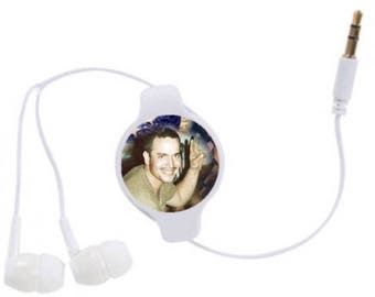 3.5mm Retractable Stereo Earbuds with Photo - FREE SHIPPING