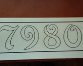 "6"" x 19""l Stained Glass Mosaic House Number"