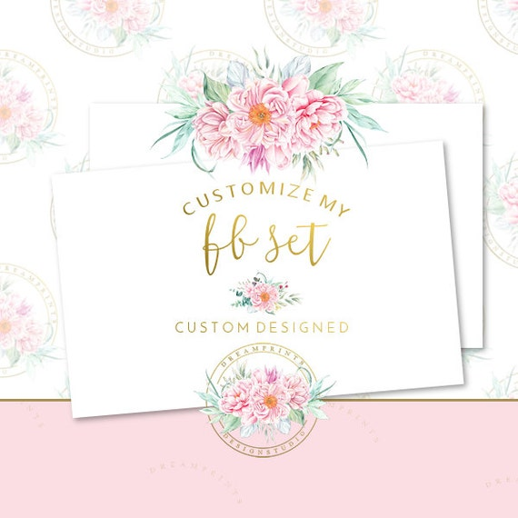 Customize My DIY Facebook Set | Business Set | Business Branding | Facebook Business | Facebook Package | Etsy Mini | Facebook DIY