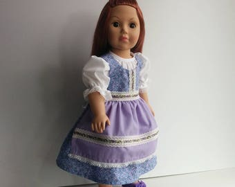 Festive Spring Dirndl for American Girl and Other 18 inch Dolls