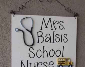 Custom Teacher Personalized Name or Word Sign for children, home, desk, shelf, decor
