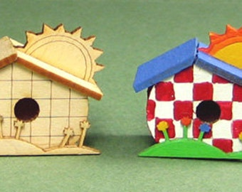 Sunshine Birdhouse Kit - 1/12 Scale For Your Dollhouse