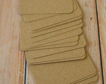 Eco Kraft Brown 350gsm 50pc handmade blank Business Cards