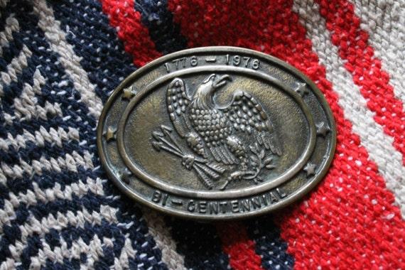 vintage 1776 - 1976 Bicentennial eagle belt buckle, brass